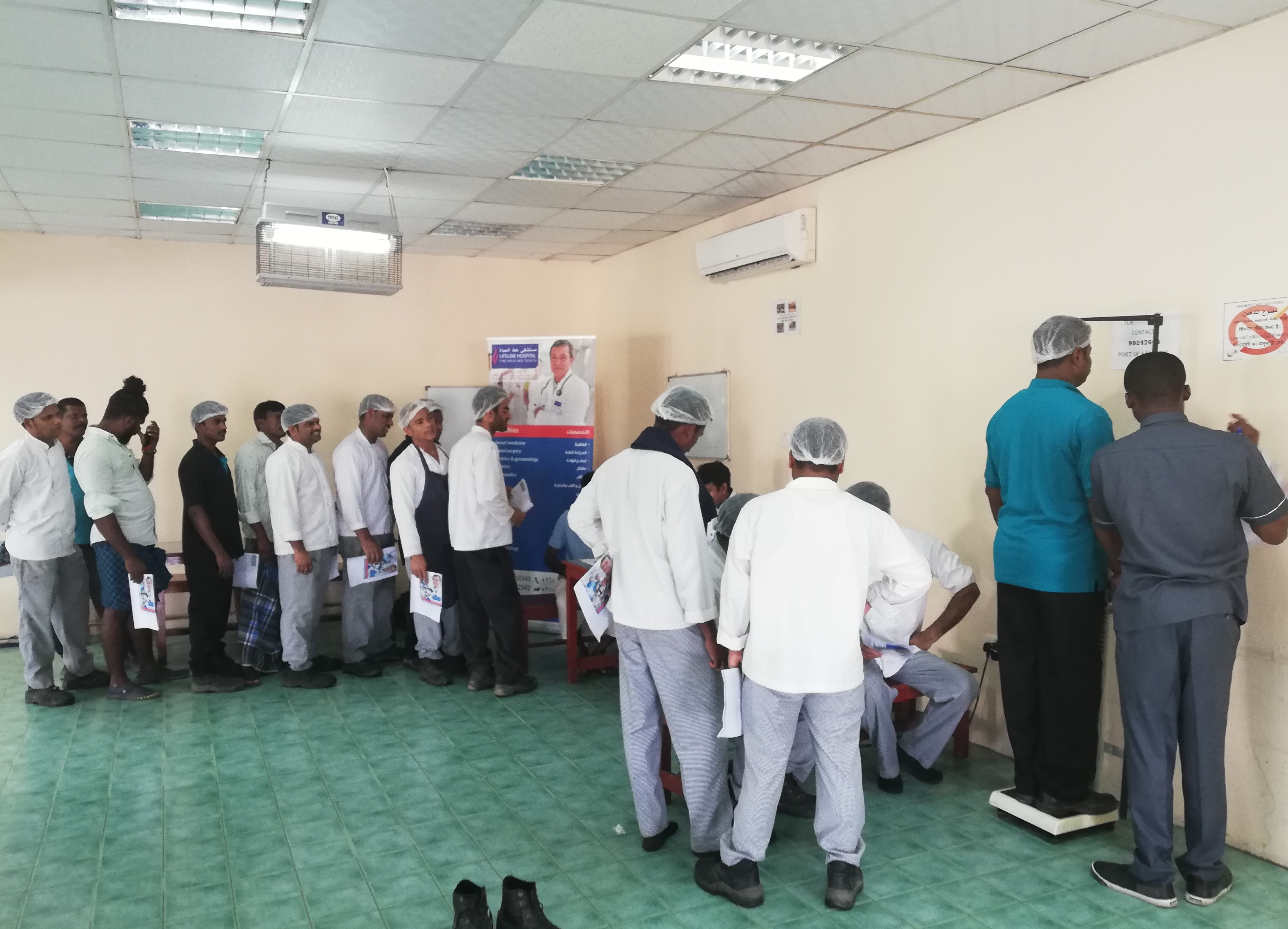 Health Screening Camp at Salalah Port Labor Camp